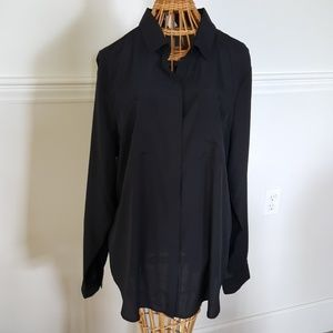 *NWT* Old Navy Black Sheer Women's Blouse Size XL
